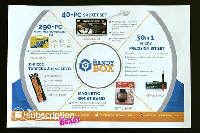July 2014 The Handy Box Review - Product Card