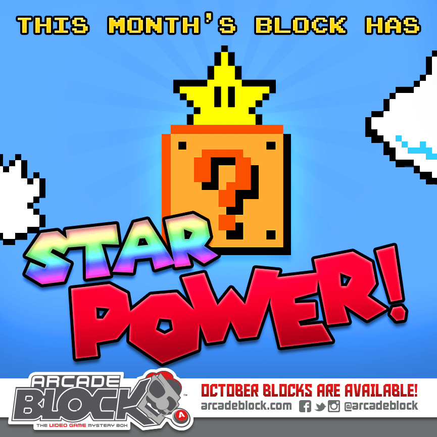 October Arcade Block Box Spoiler - Super Mario