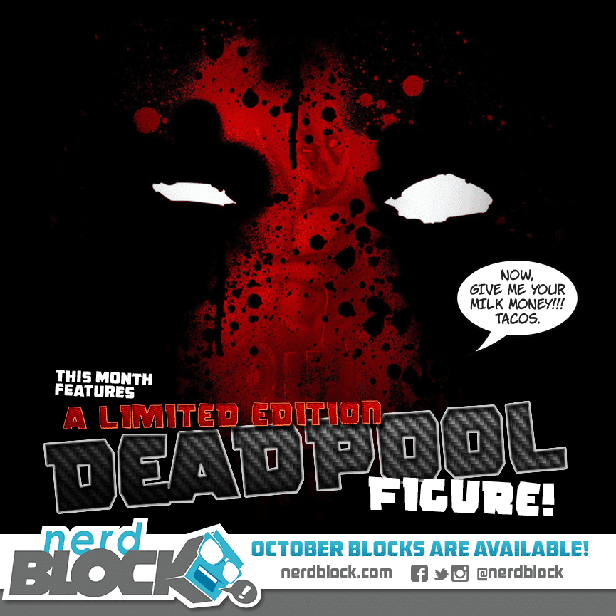 October 2014 Nerd Block Box Spoiler - Deadpool