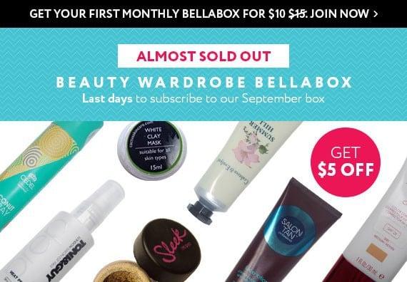 September 2014 bellabox $5 Off