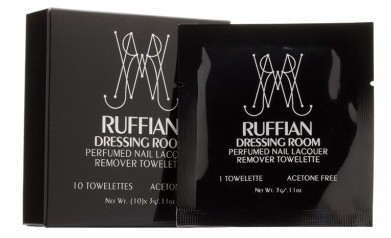 September 2014 Birchbox Box Spoiler - RUFFIAN Dressing Room Nail Lacquer Remover Towelettes