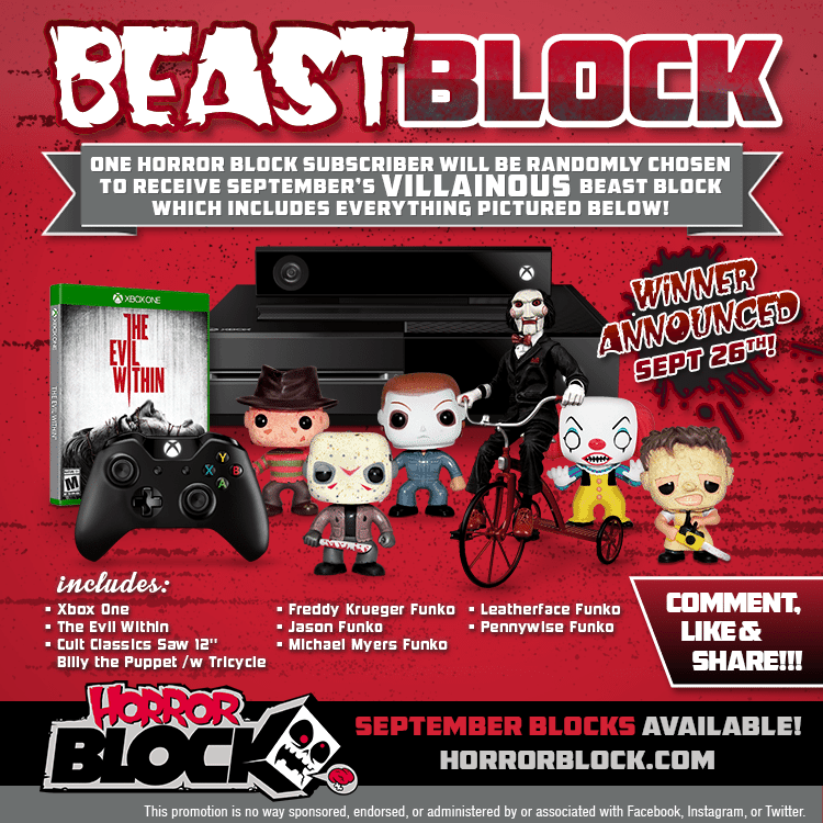 September 2014 Horror Block Beast Block