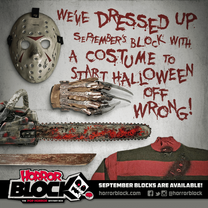 September 2014 Horror Block Box Spoiler Costume