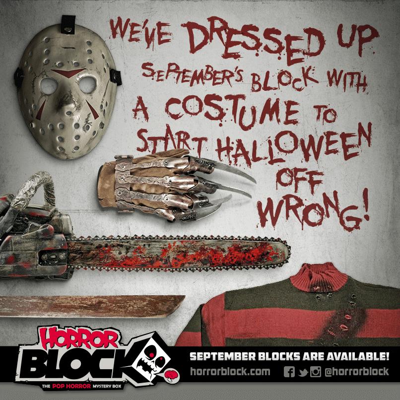 September 2014 Horror Block Box Spoiler Costume