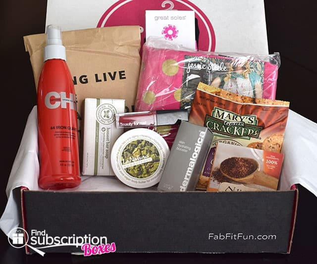 Fall 2014 FabFitFun VIP Box Review - Box Contents