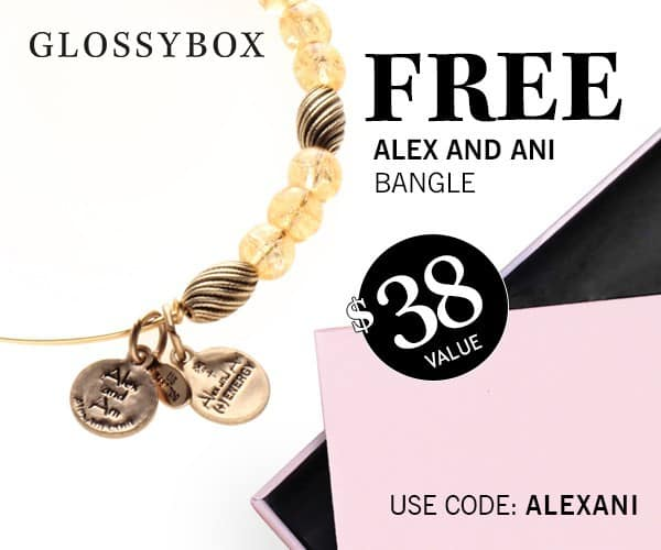 GLOSSYBOX Free Alex and Ani Bangle Coupon
