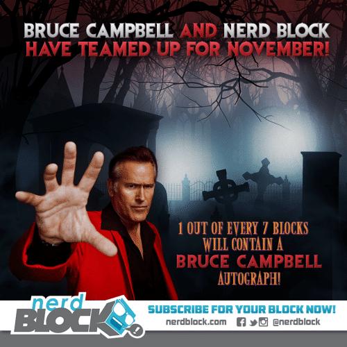 November 2014 Nerd Block Classic Box Spoiler - Bruce Campbell