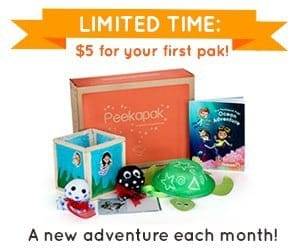 Peekapak First Box $5 Coupon