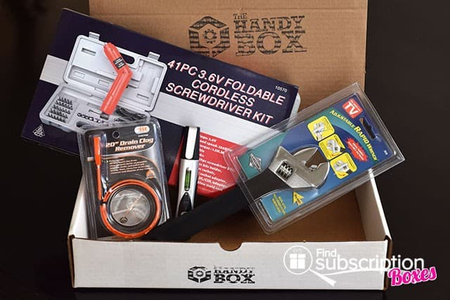 September 2014 The Handy Box Review - Box Contents
