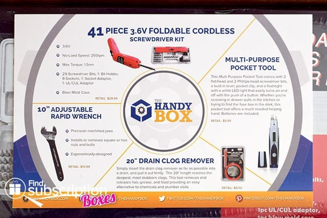 September 2014 The Handy Box Review - Product Card