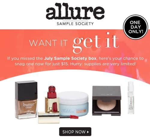 Allure July Beauty Box 1 Day Sale