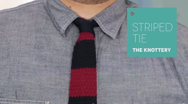 December 2014 Birchbox Man - The Knottery Striped Tie