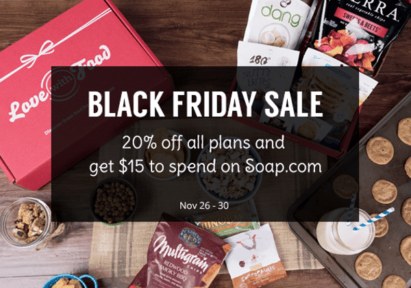 Love with Food Black Friday Sale