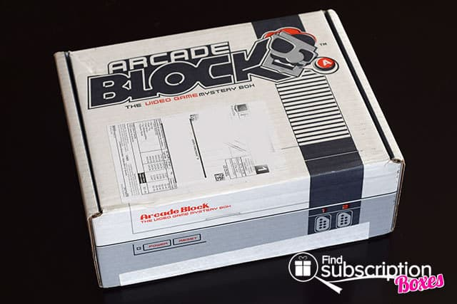 October 2014 Arcade Block Box Review - Outer Box