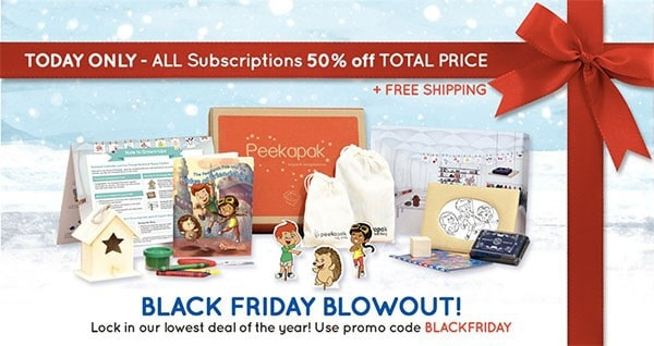 Peekapak Black Friday Coupon