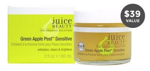 Winter 2014 FabFitFun VIP Box Spoiler - Juice Beauty Green Apple Peel Sensitive