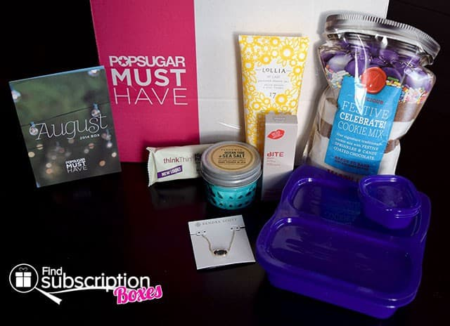 August 2014 POPSUGAR Must Have Box Review - Inside the Box