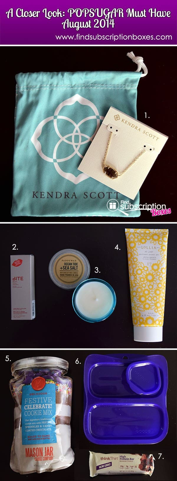 August 2014 POPSUGAR Must Have Box - Inside the Box