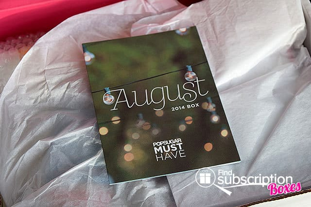 August 2014 POPSUGAR Must Have Box Review - Product Card