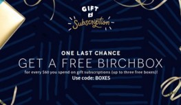 12/2 Only! Spend $60+ on Birchbox Gift Subscriptions & Get a FREE Birchbox with Code BOXES