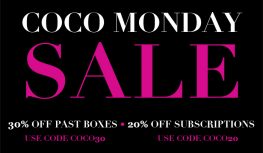 12/15 Only! Save 30% Off Past Boxes & 20% Off All COCOTIQUE Subscriptions with Code COCO30 or COCO20