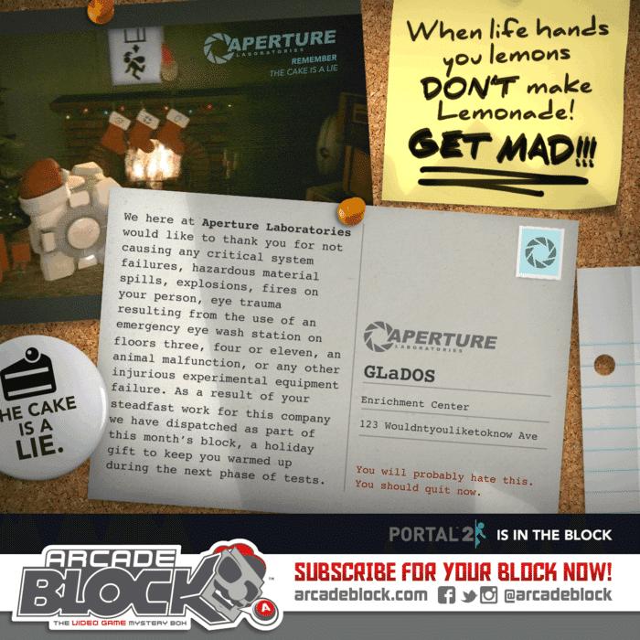 December 2014 Arcade Block Box Spoiler - Portal 2