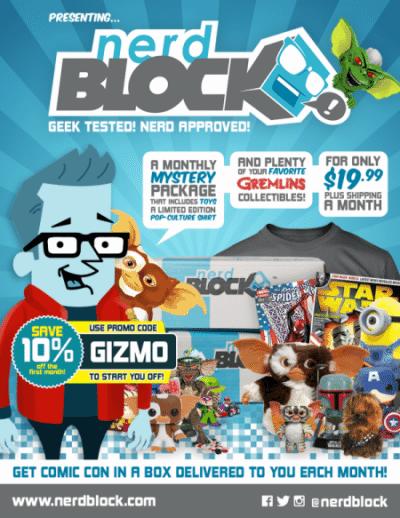 December 2014 Nerd Block Box Spoiler - Gremlins