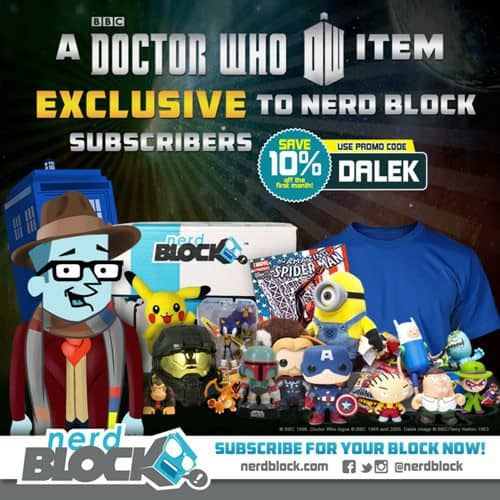 January 2015 Nerd Block Classic Box Spoiler - Doctor Who