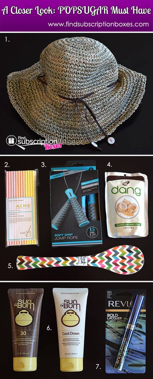 July 2014 POPSUGAR Must Have Box Review - Inside Box