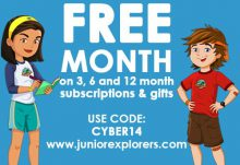 Junior Explorers Cyber Monday Sale