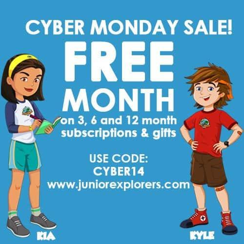 Junior Explorers Cyber Monday Sale
