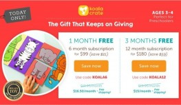 12/12 Only! 1 Month or 3 Months FREE on New 6 or 12 Month Koala Crate Gift Subscriptions with Codes KOALA6 or KOALA12