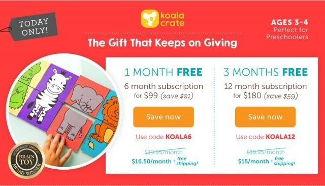 Koala Crate Free Months Coupon