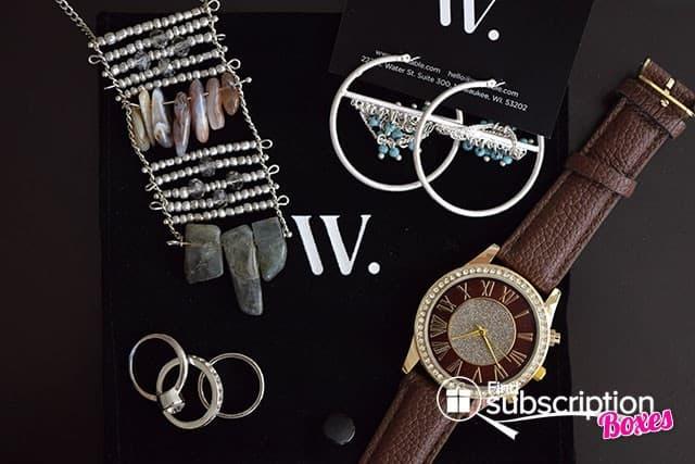 November 2014 Wantable Accessories Box Review - Box Contents