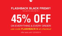 Thru 12/24 Save 45% Off EVERYTHING at Orange Glad with Code FLASHBACK14