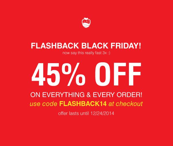 Orange Glad Flashback Black Friday 45% Off Sale