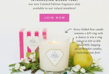 Prize Candle Limited Edition Gilded Pear