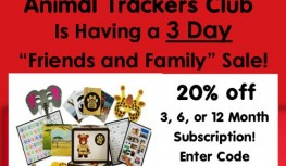 Ends 1/25! Save 20% Off Animal Trackers Club 3, 6, or 12 Month Subscriptions with Code FAMILY20