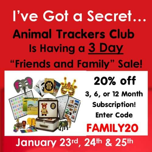 Animal Trackers Club Friends and Family Sale 20% Off