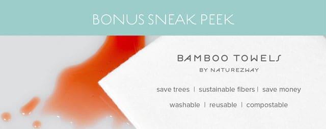 Conscious Box January 2015 Box Spoiler - Bamboo Towels Naturezway