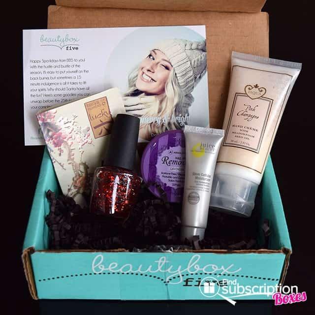 December 2014 Beauty Box 5 Box Review - Box Contents