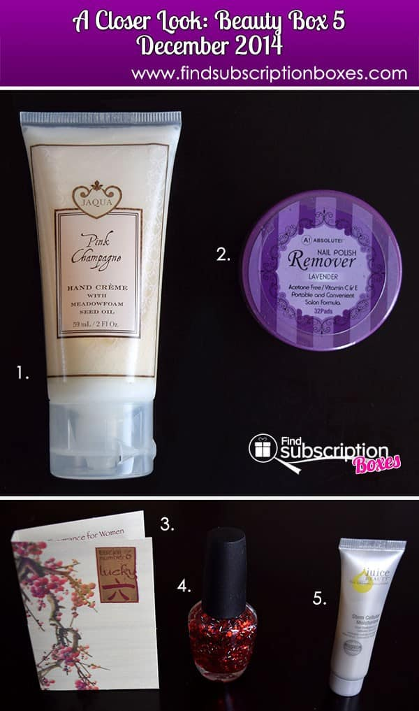 December 2014 Beauty Box 5 Box Review - Inside the Box