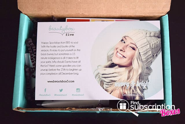 December 2014 Beauty Box 5 Box Review - Product Card