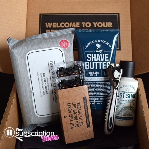 December 2014 Dollar Shave Club Box Review - Box Contents