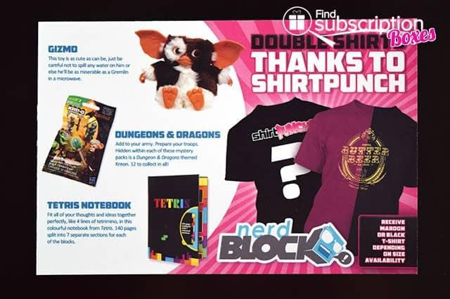 December 2014 Nerd Block Classic Box Review - Product Card