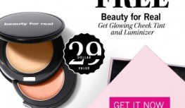 FREE Beauty for Real Get Glowing Cheek Tint and Luminizer with new GLOSSYBOX Subscriptions with Code BFRGOLD15