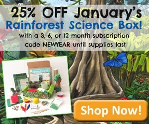 25% Off Green Kid Crafts January 2015 Rainforest Science Discovery Box
