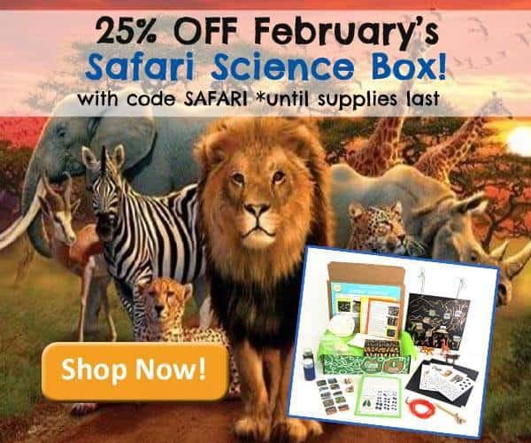 Green Kid Crafts February Safari Science Box 25% Off