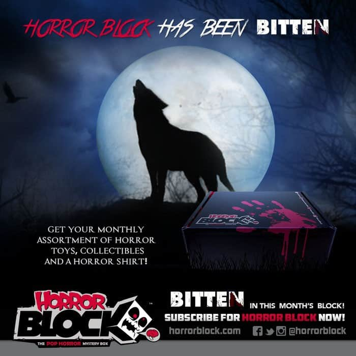 Horror Block February 2015 Box Spoiler - Bitten