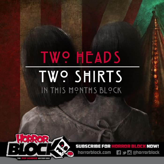 January 2015 Horror Block Box Spoiler - Double T-Shirts